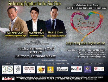 My FUN+ny Valentine Dinner Concert on January 29, 2016