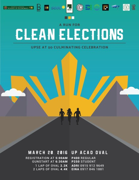 UPSE@50-Fun-Run-A-Run-for-Clean-Elections-2016-Poster-463x600